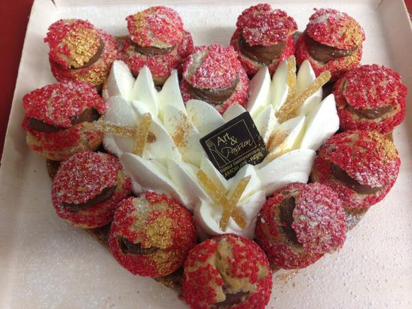coeur st valentin ganache chocolat gingembre - Traiteur Mariage Oise